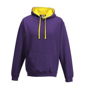 purple/yellow hoodie